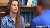 Dishonest Pregnant Young Store Thief Kimmy Granger Found Out & Fucked