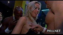 Screenshot Blonde Girl Swallowing Black Dong
