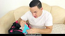 CFNMTeens - Soccer Babe Gets Fucked With Her Panties On thumbnail