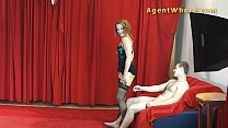 MILF agent whore gives sexy dance to young beginner preview image