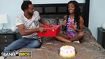 BANGBROS - Young Ebony Babe Lexie Deep Gets Anal For Her Birthday thumbnail