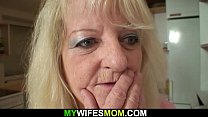 Very old blonde mother in law