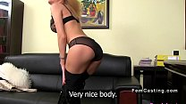 Blonde licks huge tits female agent preview image