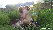 Making Love Outdoors in the Garden - Homemade - download porn videos