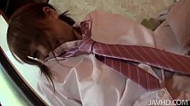 Big Titty Teen Asuka In A Schoolgirl Uniform Riding A Hard Cock While Her Tits S