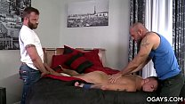 5878 Muscular gay trio preview