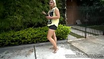 Cams4free.net - Sexy Blonde Dirty Bare Feet in Street
