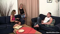 Daughter watches him fucking her old mother Vorschaubild