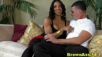 Round ass ebony beauty in nylons cumshot