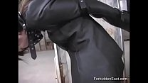 Submissive Japanese Business Woman In Leather Bound And Masked Preview