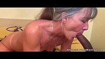 Grey haired granny enjoys big black cock Vorschaubild
