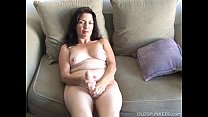 Busty old spunker home alone has a nice little wank pornhub video