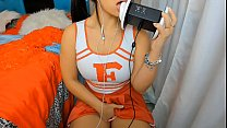 ASMR sexy girl cheerleader Joi Jerk Off instructions FAKE CUM PUNHETA CONTROLADA