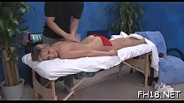 Cute hawt 18 year old gets screwed hard from behind by her massage