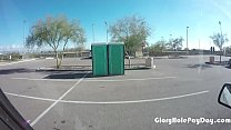 Chubby  Girl Sucks Gloryhole Dick At A Baseball Field