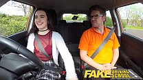 Fake Driving School Sexy horny new learner has a secret surprise Image