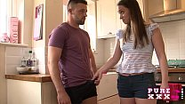 PURE XXX FILMS Hot kitchen housewife's Thumb