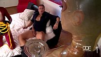 Latex Lucy and Katia get the Daylights Fucked out of them صورة