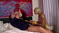 Latex Lucy and Katia get the Daylights Fucked out of them Vorschaubild