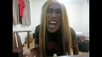 Satanic Tranny Goes Crazy On Poppers And A Dildo