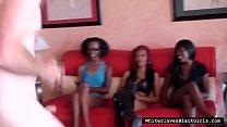 Ebony Dominas Laugh At White Cock