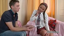 Cute teenager Elena is getting her sweet butt fucked hard