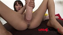 Perfect beauty Nadine fucks a Pair of Monster d...