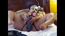 Monster dildo in Latin Milf's Thumb