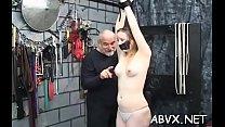 Swingeing bimbo is playing with her perky nipples era