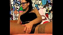 Horny German Hipster Big Tits and Masturbating on Cam preview image