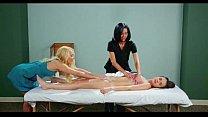 Amazing lesbian massage video