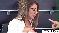 (Layla London) Busty Office Slut Girl In Hardcore Sex Scene clip-17