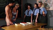 Image: CFNM sex education from the teacher for eager girls