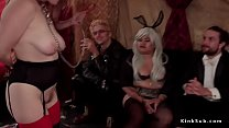 Babes in lezdom and rough fucking orgy