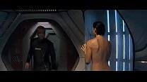 Carrie Anne Moss shower scene in red planet