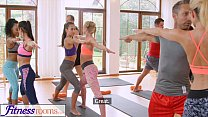 FitnessRooms Groups yoga session ends with a sweaty creampie Vorschaubild