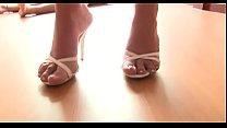 Hot footjob by girl
