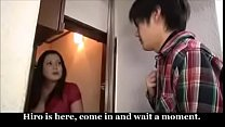 Japanese Stepmom And Young Son