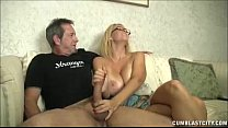 Huge-titted milf enjoys jerking cocks Thumbnail