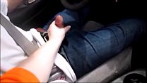 Wife Give Husband Handjob While Driving Making Him Cum thumbnail