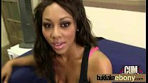 Hot ebony chick in interracial gangbang 18