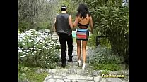 Brunette wife screwed in park