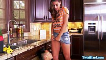 Rilynn Rae doggystyle fun in the kitchen video