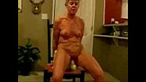 Horny granny really loves to be watched. Amateur