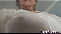 Grandma Teasing Her Pussy With Panties On