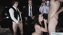 Nerdy girl abused in prom night