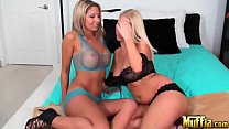 Amazing blondes with perfect figures, big boobs and pretty faces; Molly Cavalli and Natalie Vegas preview image