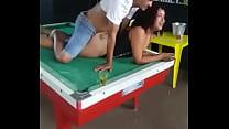 Fudendo na mesa de sinuca