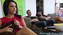 Teen slut rides stepbro