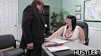 Angelic BBW Alexxis Allure fed cum after big cock hammering porn image